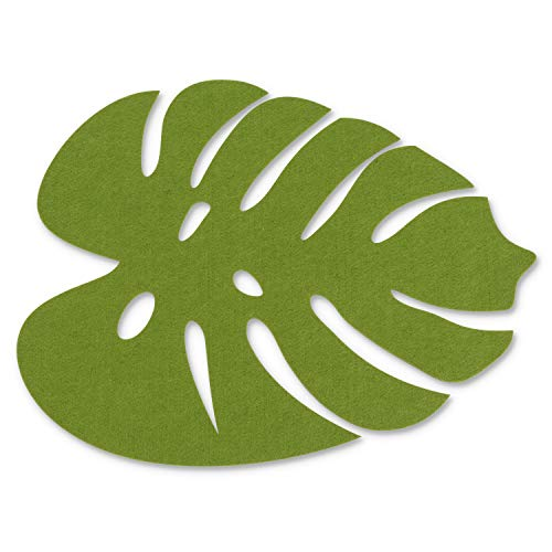 Abbott Collection 27-Jungle/MAT Tropical Leaf Placemat-Grn-13X17 L, - Leaf Tropical Collection