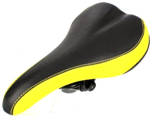 VELO Mountain Road Bike Bicycle Seat Saddle Black Yellow BMX