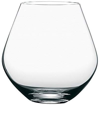 Circleware Soiree Stemless Red White Wine Glasses, 17.5 oz, Set of 6, Clear, Lead Free Glass Drinking Cups For bar, Water, Juice, Whiskey & Beverage Drinks