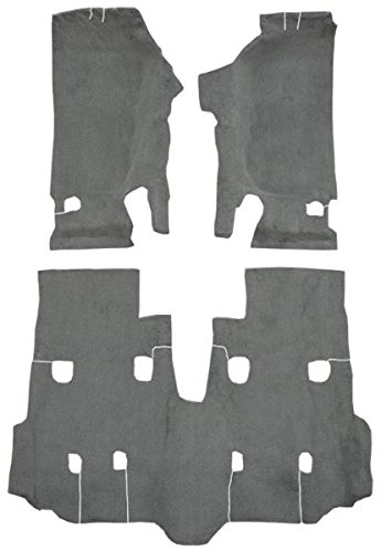 2007 to 2010 Jeep Wrangler Carpet Custom Molded Replacement Kit, Unlimited, Passenger Area (801-Black Plush Cut Pile)