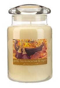 Colony Large Gold Frankincense and Myrrh Candle Jar: Amazon.co.uk ...