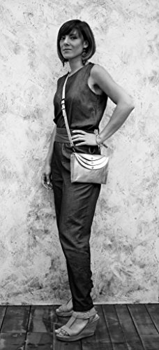 MINAUDIÈRE Marron PAUL Sac Huilé pochette à LA MARIUS style vintage main cuir femme WZUn4Wg