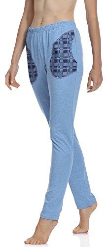 Merry Pigiama Style 002 Donna MPP Melange del Pantaloni Blu rtrgA