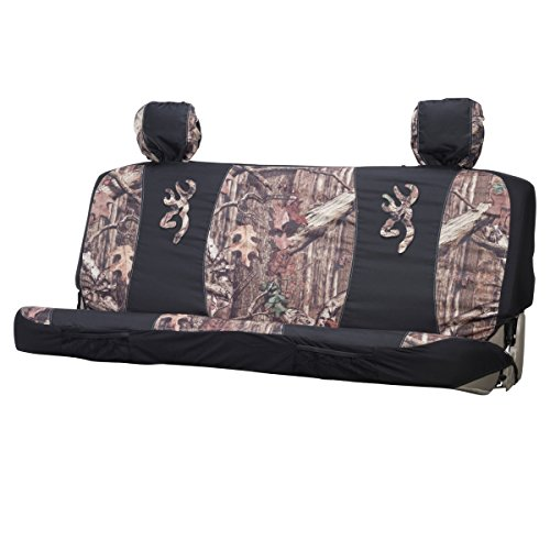 Browning Mid-Size Camo Bench Seat Cover (Mossy Oak Infinity Camo, Durable Polyester Fabric, Includes One Seat Cover and Two Headrest Covers, Sold Individually) (Car Seat Covers Baby Camo)