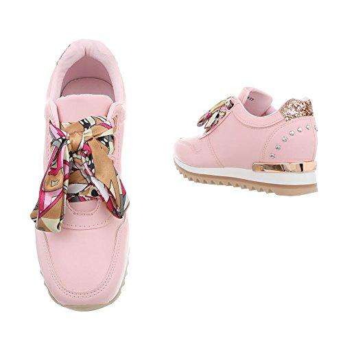 Scarpe Donna design Rose Sneakers High Sneaker G Clair Da 124 Zeppa Ital aq1g5x