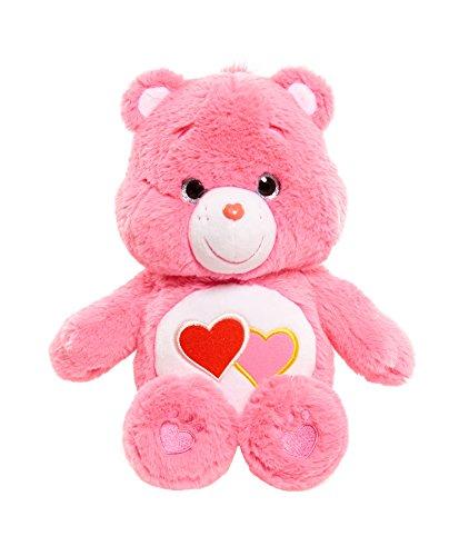 "Care Bear Medium 13"" Plush (w/o DVD) Love A Lot, Pink"