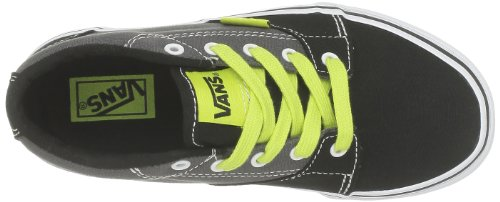 Vans - Zapatillas de deporte de tela para niño Negro (Noir (Black/Charcoal))