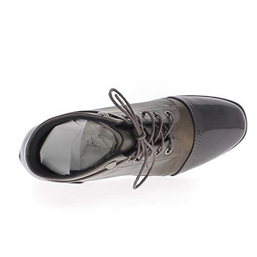Stiefel braun Frau 4,5 cm und Sohle von 1,5 cm