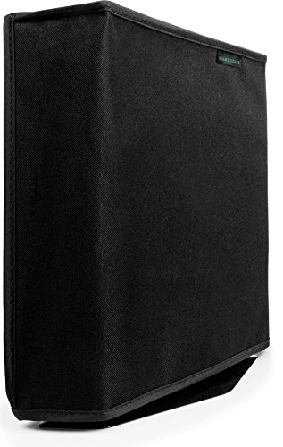 Playstation-4-Pro-Dust-Cover-VERTICAL-PRO-MODEL-by-Foamy-Lizard--THE-ORIGINAL-MADE-IN-USA-TexoShield-TM-premium-ultra-fine-soft-velvet-lining-nylon-dust-guard-with-back-cable-port-Vertical