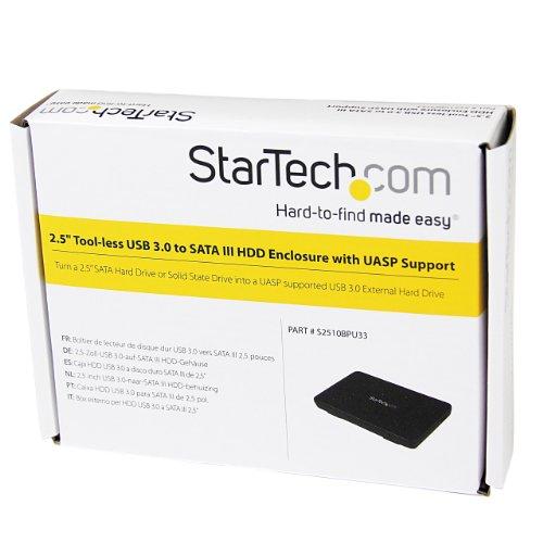 StarTech 2.5-Inch USB 3.0 External SATA III SSD Hard Drive Enclosure with UASP 9