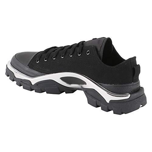 Simons Adidas Nera Raf By Sneaker Runner Nero In Tela Detroit qtH6Fx1