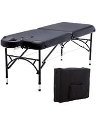 "Artechworks 84"" Professional 2 Folding Portable Lightweight Massage Table Facial Solon Spa Tattoo Bed With Aluminium Leg(2.56"" Thick Cushion of Foam)"