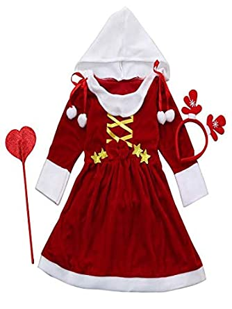 a77eaebc691ce Amazon.com: Kids Childrens' Christmas Costume Cosplay Dress for Baby ...