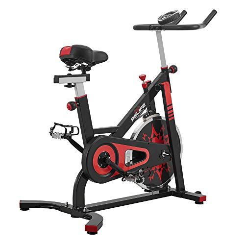 (RELIFE REBUILD YOUR LIFE Spin Bike Stationary Indoor Cycling Gym Resistance Workout Home Gym Fitness Machine Exercise Bike)