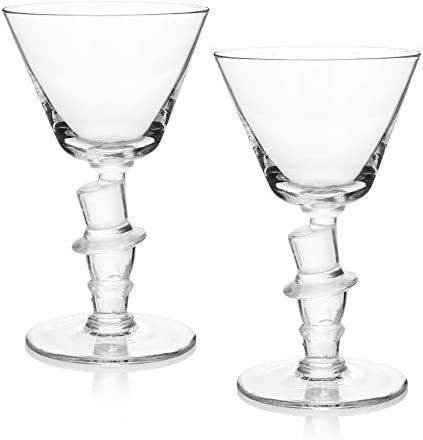 """Old Knickerbocker Bar""""Top Hat"""" Cocktail Glass (Gift Box of 2)"""