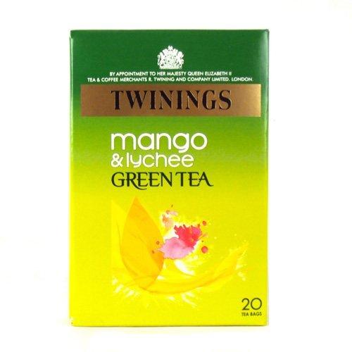 Twinings Mango & Lychee Green Tea 20 Tea Bags (Bags Twining Green Tea)