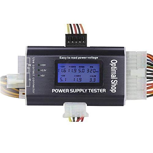 "Optimal Shop 20/24 4/6/8 PIN 1.8"" LCD Computer PC Power Supply Tester for SATA,IDE,HDD,ATX,ITX,BYI Connectors"