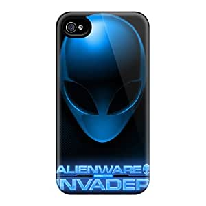 Durable Hard Phone Cases For Iphone 4/4s With Custom Vivid Alienware Skin CharlesPoirier