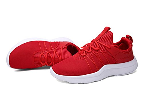 Nelson Kent Mens Mode Marche Occasionnel Athlétique Confortable Chaussures De Course Baskets Rouge
