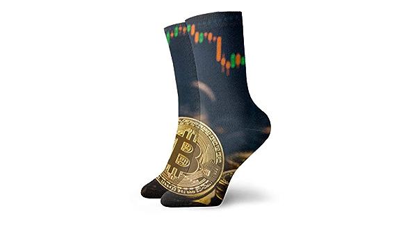 OUYouDeFangA Bitcoin Stock Line - Calcetines de algodón para ...