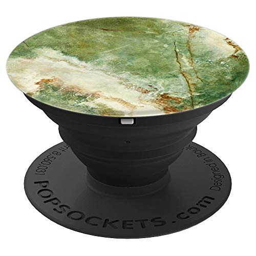 ve Green Marble Design Phone Accessory - PopSockets Grip and Stand for Phones and Tablets ()