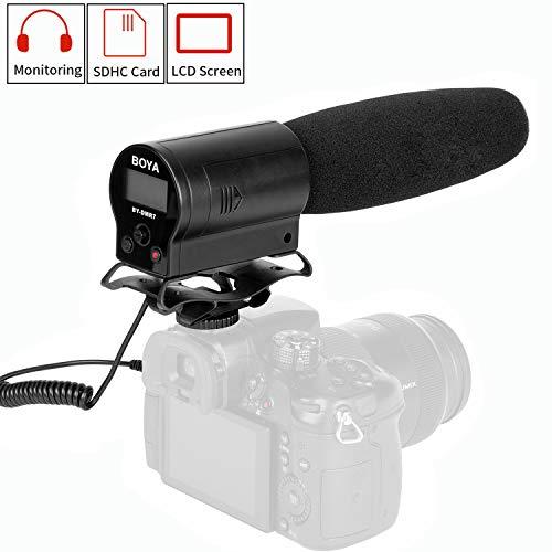 ضبط دوربین ضبط شده برای دوربین های Canon EOS Nikon Sony Pentax DSLR دوربین های سازگار با ضربان قلب ویدئویی Super Cardioid Shotgun HD Prosumer Interview