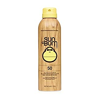 Sun Bum Original SPF 50 Sunscreen Spray | Vegan and Reef Friendly (Octinoxate & Oxybenzone Free) Broad Spectrum Moisturizing UVA/UVB Sunscreen with Vitamin E | 6 oz