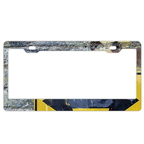 YEX Abstract Art Background brick3 License Plate Frame Car License Plate Covers Auto Tag Holder 6