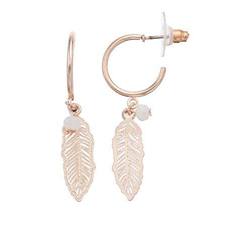 LC Lauren Conrad Feather Nickel Free Hoop (Lauren Conrad Jewelry)