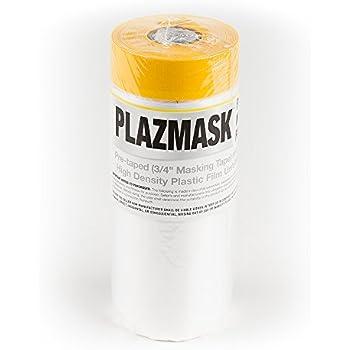 PlazMask Pre-Taped Masking Film, 3-Feet X 65-Feet
