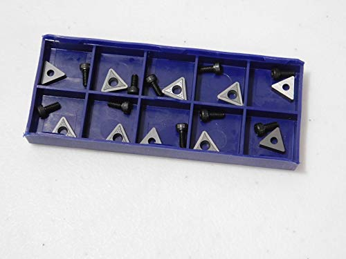 (Online Auto Supply 10 Carbide Inserts On-Car Brake Lathe Bits for Pro Cut 50-742)