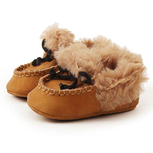 Clode® Baby Girl Boy weiche Säuglingskleinkind-neugeborene wärmende Schuhe Braun