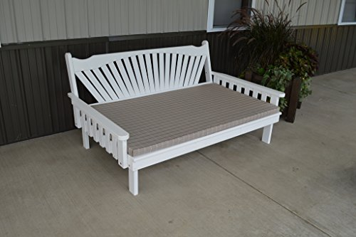 Furniture Barn USA 6 Foot Pine Indoor or Outdoor Fanback Daybed Amish Made- 8 Stain Options ()