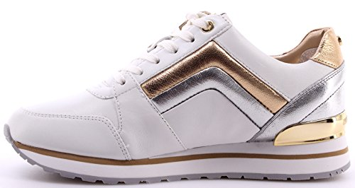 Zapatos Mujer Sneakers MICHAEL KORS Conrad Trainer Leather Optic Silver Cuero