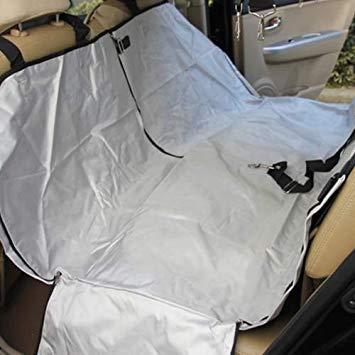Uniqus Nonslip Folding Car Rear Back Seat Cover Pet Cat Dog Cushion Mat, Size  154 x 140 x 42 cm (Silver)