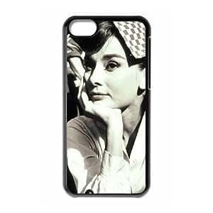 AUDREY HEPBURN Personalized Case for Iphone 5C, Customized AUDREY HEPBURN Case