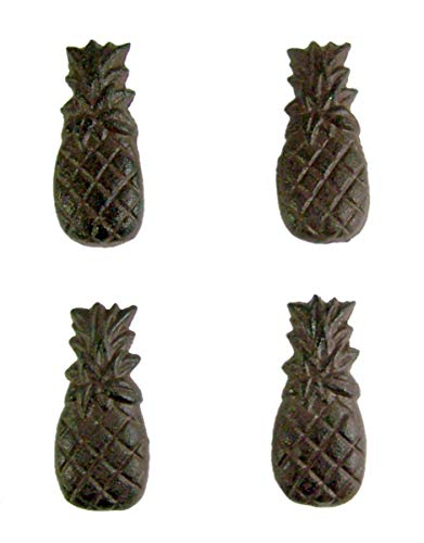 - Cast Iron Rust Color Pineapple Drawer Pull Set of 4