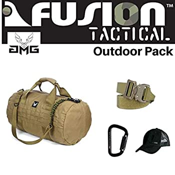 Image of AMG & Fusion Outdoor Pack, Great Carry-On Flight Approved Travel Bag, Outdoors, and on The Go, with Belt, Carabiner and Black Cap Included Game Belts & Bags
