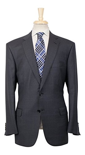 Brioni Wool Suit (BRIONI Colosseo 22 Gray Plaid Wool 2 Button Suit 54/44 R)