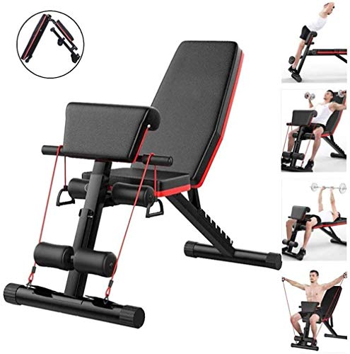 XRTJ Adjustable Weight Bench Workout Bench Foldable Home Gym Equipment Weights Set Bench Workout Training Leg Exercise…