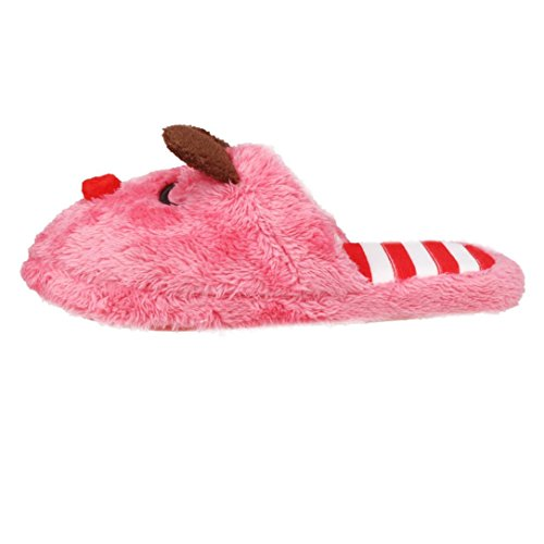Amiley Womens Plush House Indoor Cute Soft Scuffs Slipper Cotton-padded Shoes Red vBAt92vjw