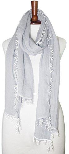 Grey finged long scarf - Beca Costume Ideas
