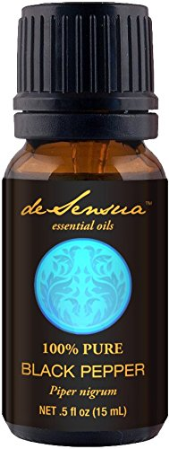 Black Pepper Essential Oil, 100% Pure For Professional Aromatherapists (for Home Use, see Warnings) 15 ml