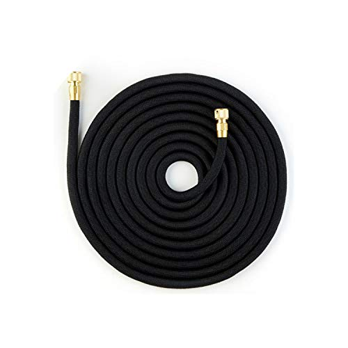 QianQianStore 25Ft-100Ft Expandable Garden Hose Telescopic Hose High Pressure Car Wash Hose Seamless Ribbon Watering Pipe,25Ft,Black