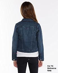 Levi\'s Big Girls\' New Attitude Denim Jacket, Indigo Muse, Large