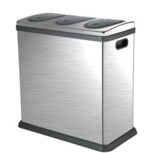 Laundry Company Trio 60 Litre Brushed Stainless Steel Kitchen Home Recycling  Bin: Amazon.co.uk: Kitchen U0026 Home
