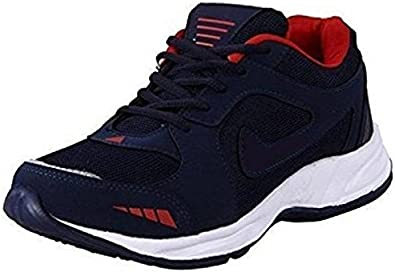 Deals4you Black/Blue Sports Running Shoes for Mens and Boys Men's Running Shoes at amazon