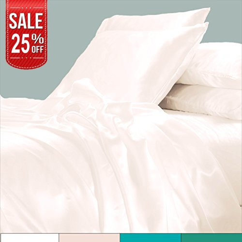 Linenwalas Todays Deal Bamboo Sheets – Fathers Day Gifts |100% Organic Softest Moisture Wicking Deep Pocket Bedding | Silk Like Soft, Wrinkle Free Cooling Luxury Hotel Bed Sheet Set (King Size, Ivory)