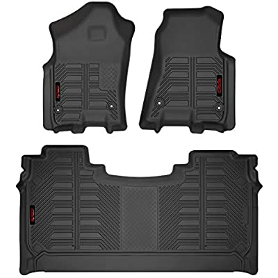 Gator Accessories 79711 Black Front and 2nd Seat Floor Liners Fits 2020-20 Ram 1500 Crew Cab: Automotive
