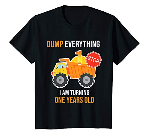 1 Year Old Birthday Party Themes (Kids Kids 1st Truck Theme Birthday Party Gift Shirt Age 1 Yr)